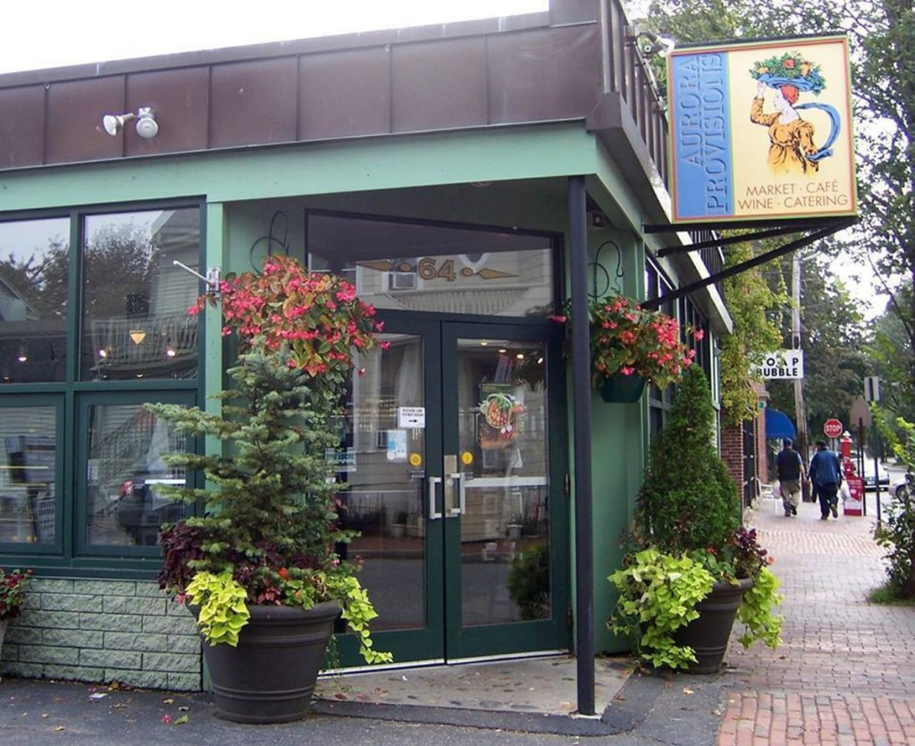 Aurora Provisions in its heyday as a popular gourmet foods retail shop and cafe on Portland's West End. The building has been sold at auction.