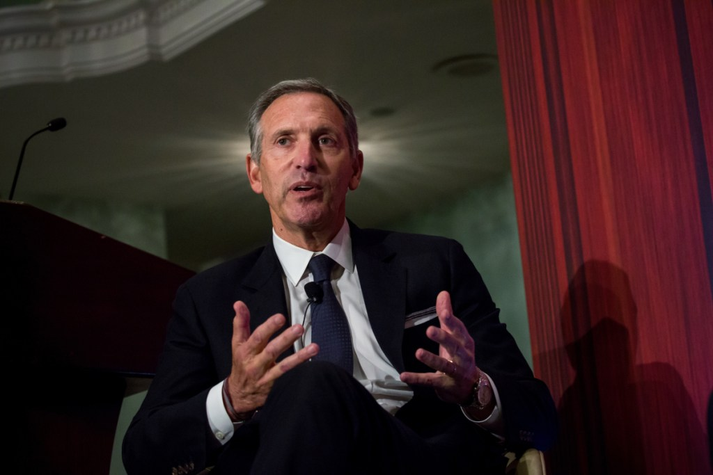 Howard Schultz, chairman and founder of Starbucks Corp., is socially liberal and economically conservative.