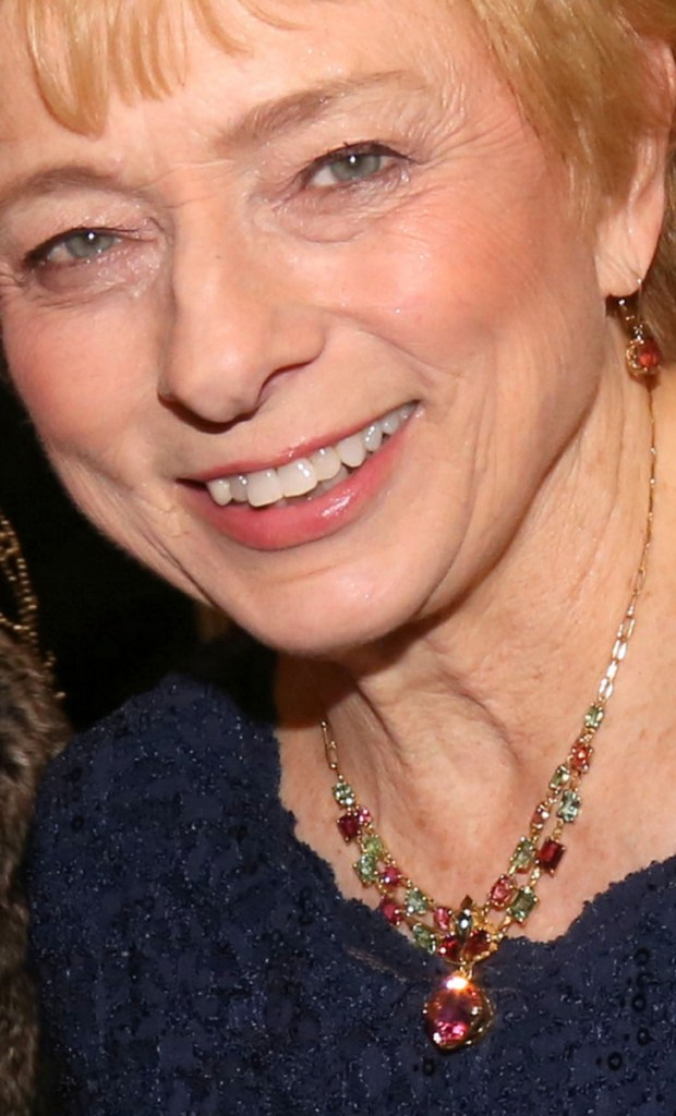 Gov. Janet Mills wears the Maine Tourmaline Necklace at her post-inaugural celebrations Jan. 3.