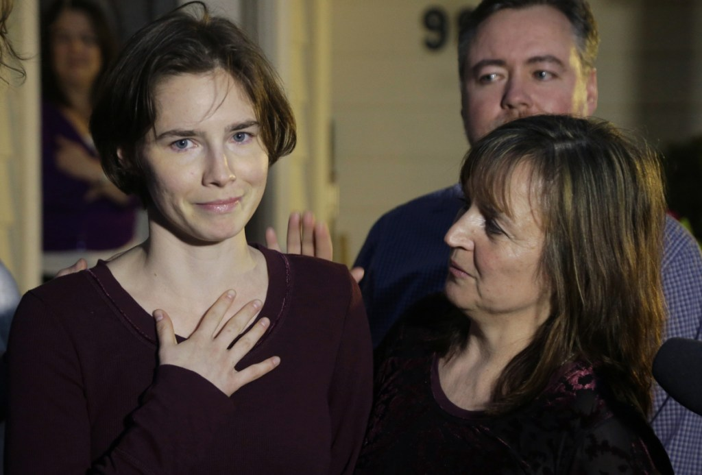 Amanda Knox and her mother Edda Mellas at  Mellas' home in Seattle in 2015.
