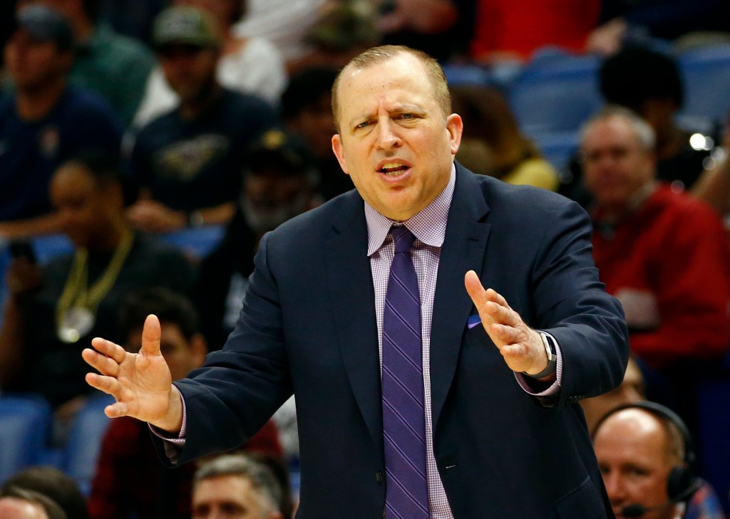 A person with knowledge of the decision tells The Associated Press that the Minnesota Timberwolves have fired Tom Thibodeau as their head coach halfway into his third season with the team that began with turmoil surrounding All-Star Jimmy Butler.