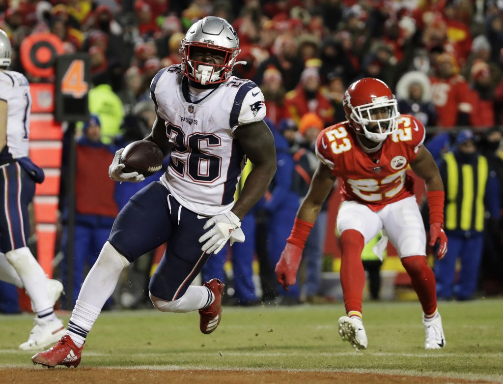 Sony Michel's running will be a factor for the New England Patriots in the Super Bowl. A big factor.