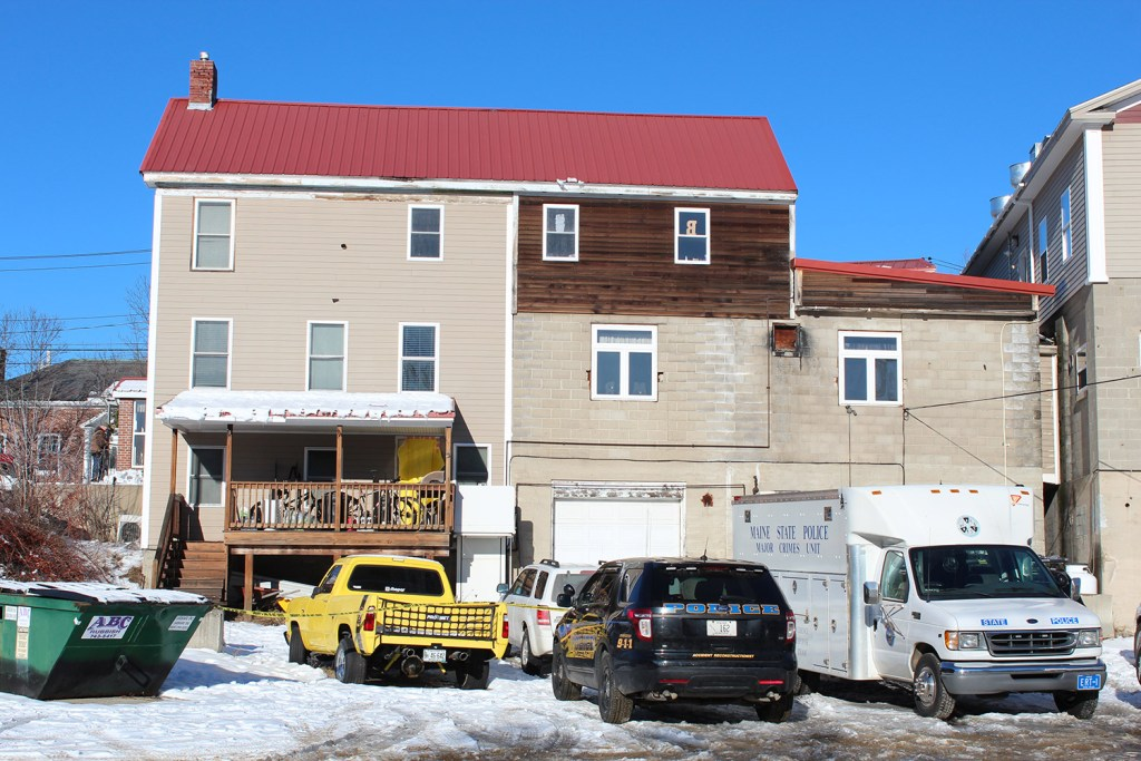 State police continue their investigation Thursday at the Market Square apartment where two people were found dead on Tuesday night.