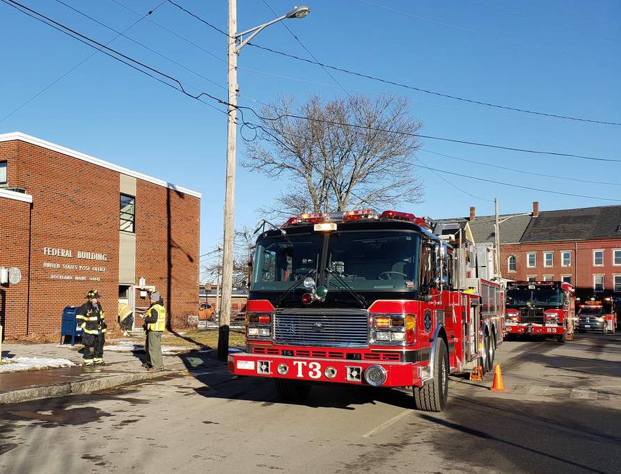 Fire crews responded to smoke throughout the post office on Limerock Street in Rockland Dec. 20.