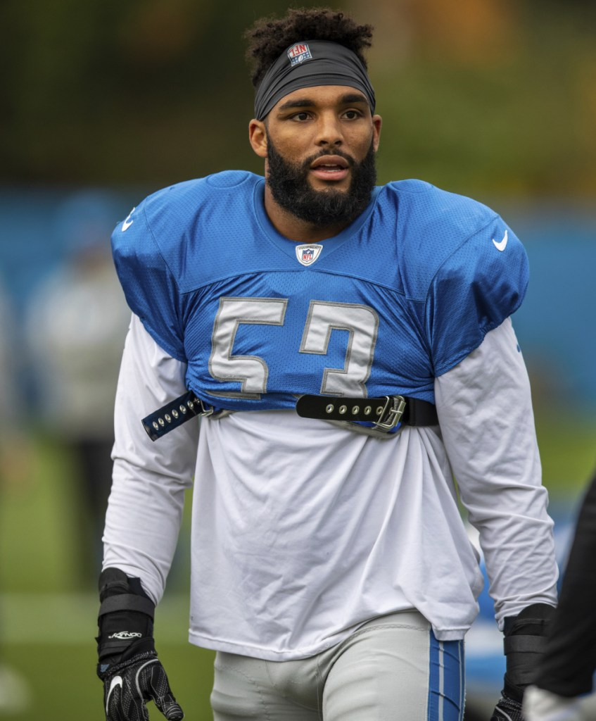 Linebacker Trevor Bates, 25, played in nine games last fall for the Detroit Lions. An alleged assault on an officer could upend his career.