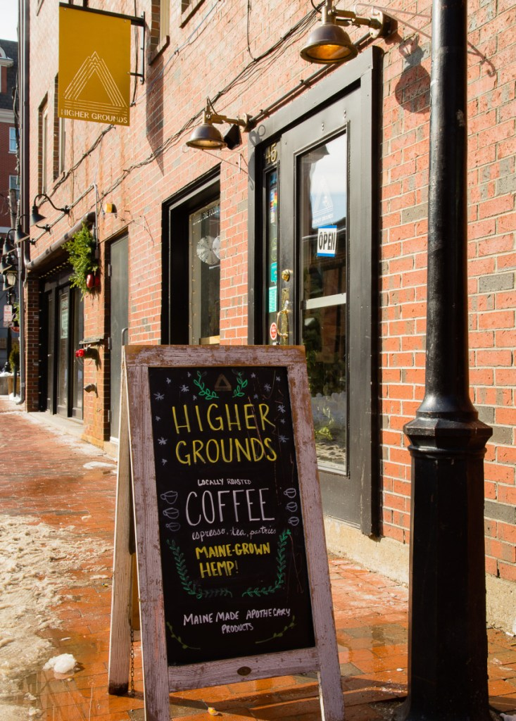 Businesses like Higher Grounds coffee shop on Wharf Street hope the City Council will change a proposed rule preventing pot shops from selling regular food and drinks.