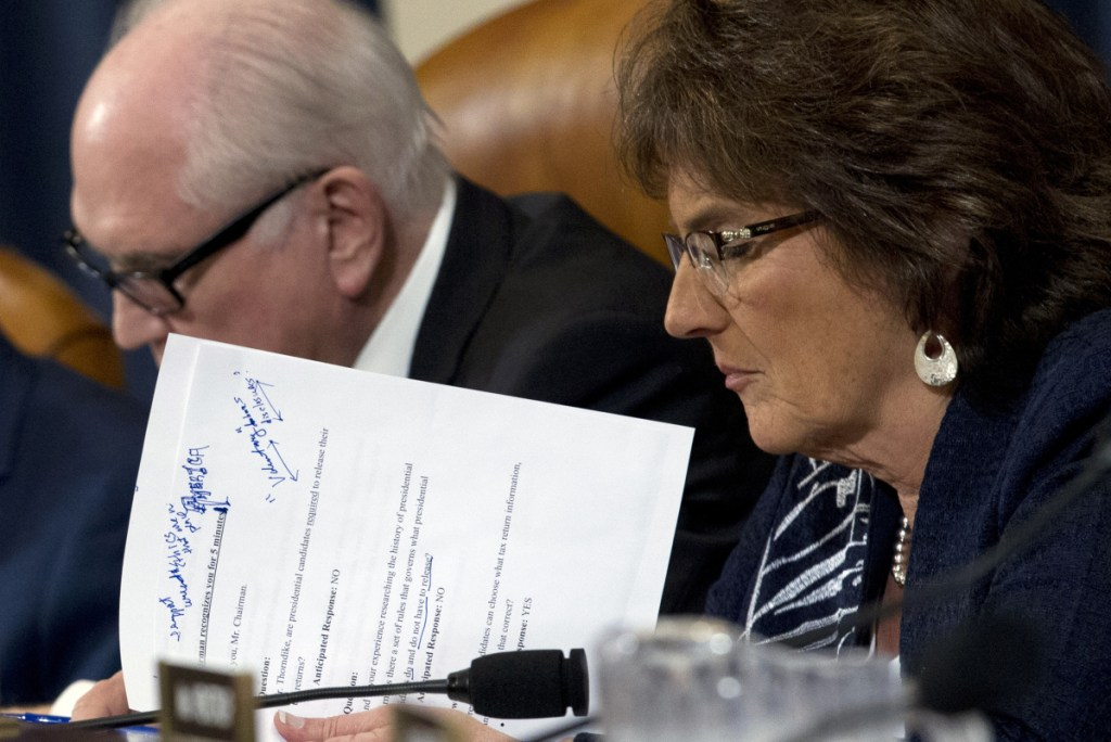 Rep. Jackie Walorski, R-Ind., attends a hearing on proposals to compel presidents and presidential candidates to make public years of their tax returns.