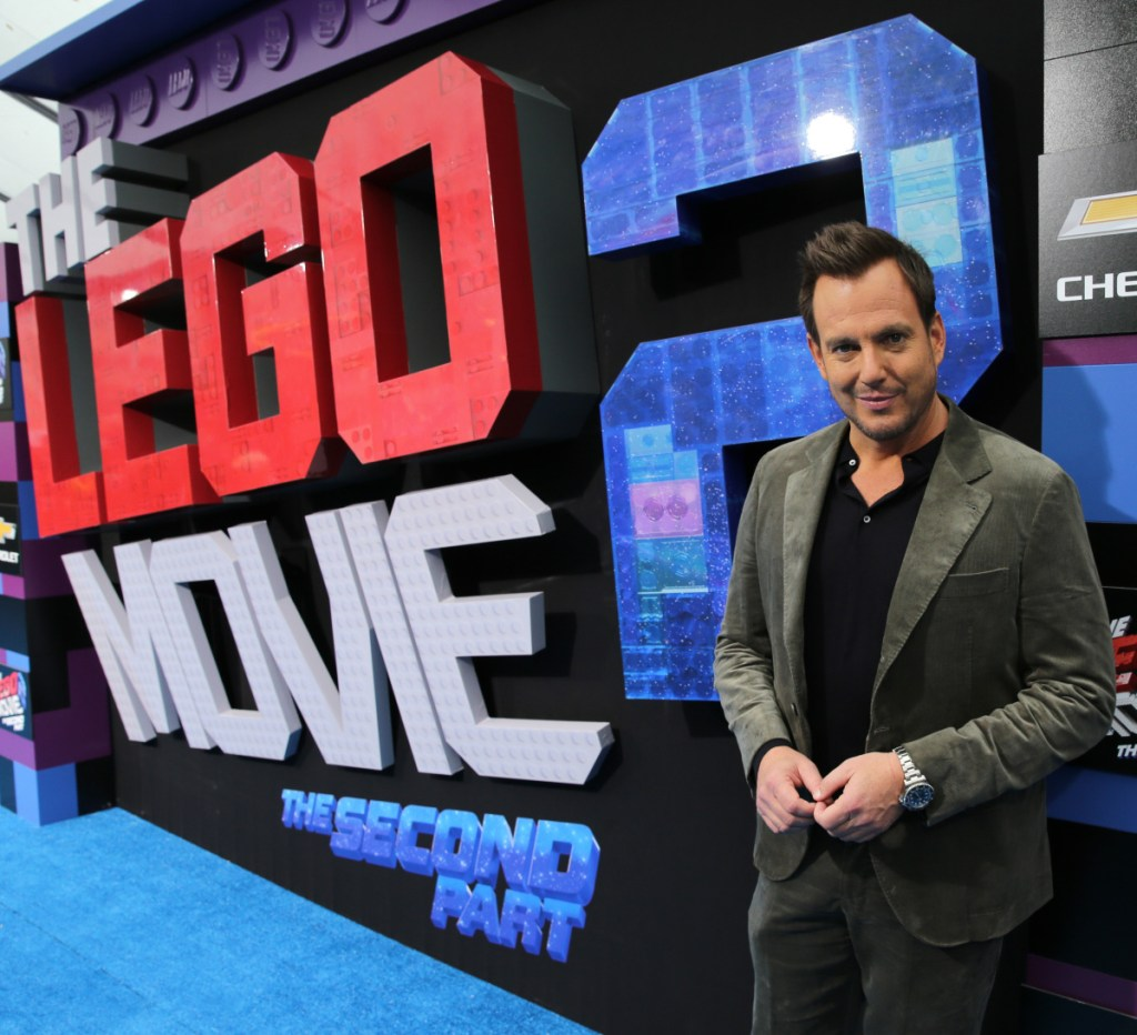 "Will Arnett at the premiere of ""The Lego Movie 2: The Second Part"" in Westwood, California. Arnett voices Batman in the ""Lego"" movies."