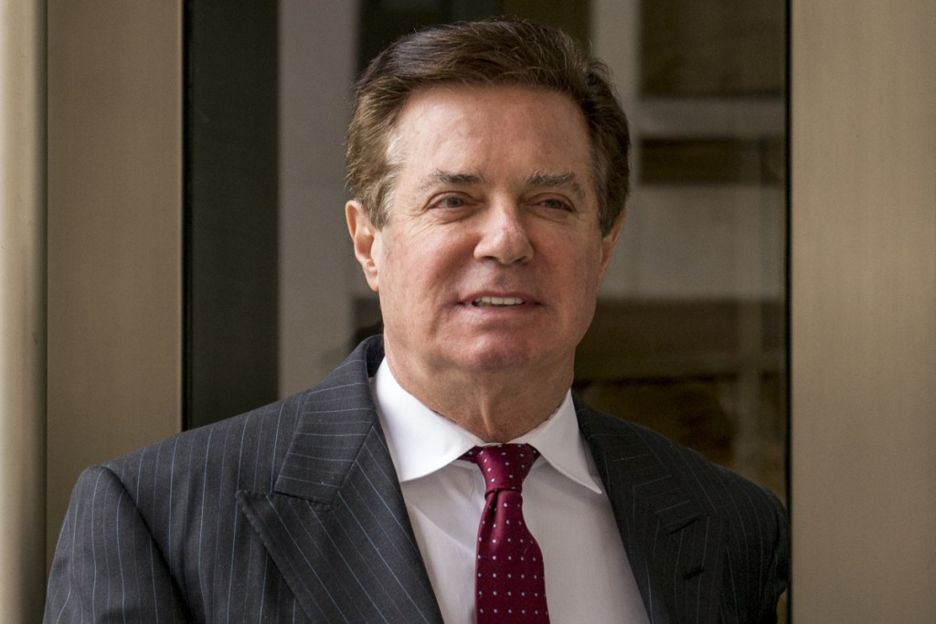 Paul Manafort leaves the federal courthouse in Washington on April 4, 2018. A judge's finding that Manafort lied to prosecutors could add years to the sentence he gets next month.