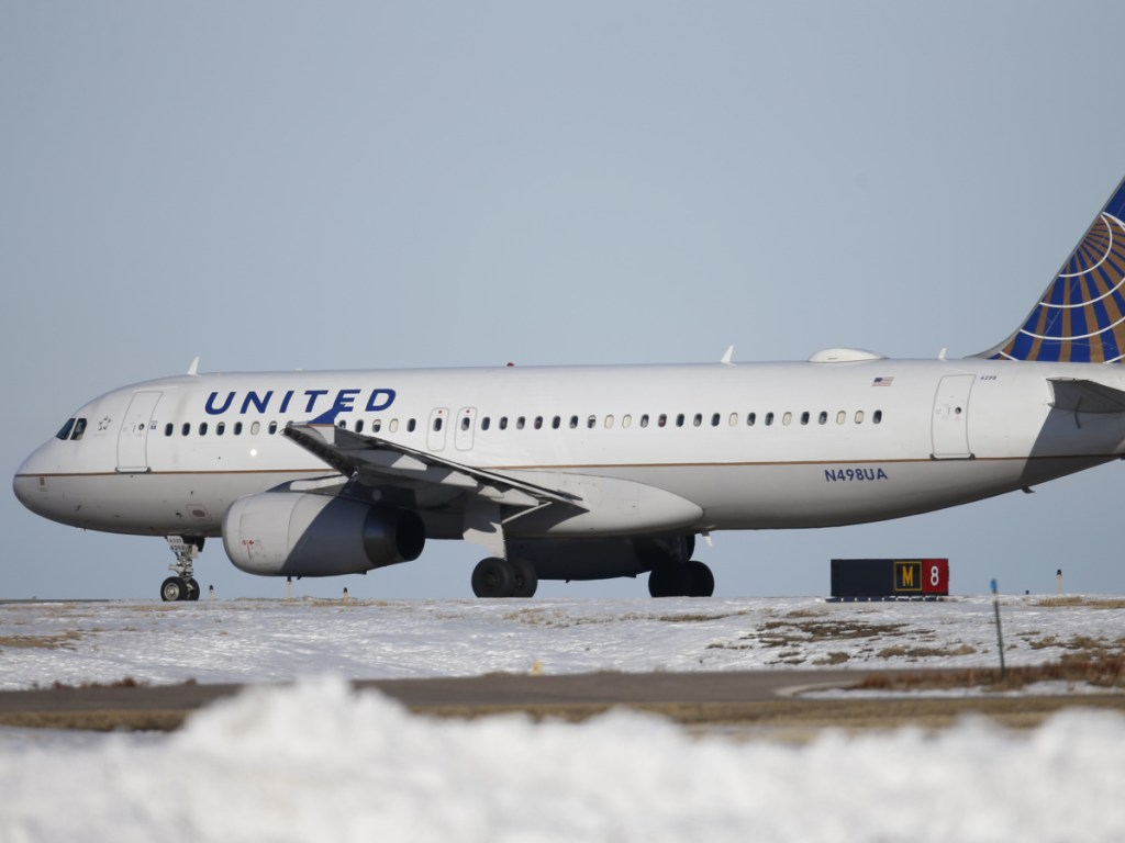 A United Airlines jet waits to take off at Denver International Airport, one of eight hubs United operates around the country. Starting June 8, United will begin flights between Denver and Portland on Saturday and Sunday.