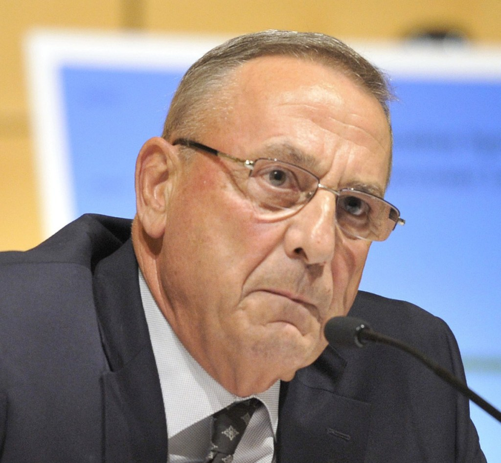 """Former Gov. Paul LePage told WGAN radio he wasn't aware of paying $1,100 for a room at a Trump hotel, but """"shame on me"""" if it happened """"because I should have been on top of that."""""""