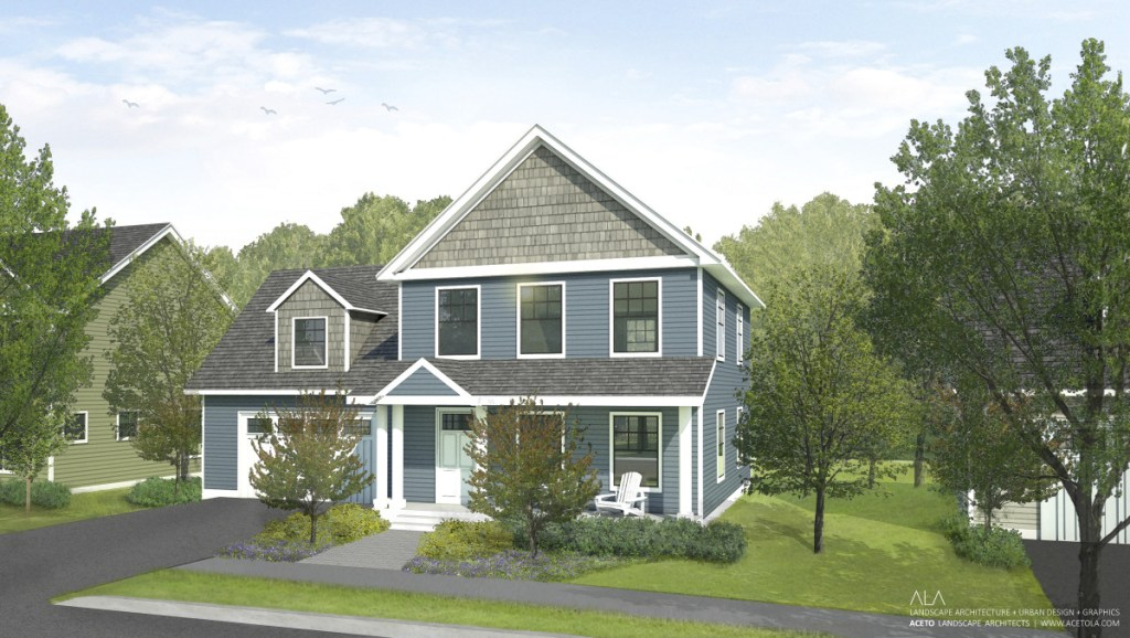 The three-bedroom houses are priced between $310,000 and $385,000 to meet growing demand for affordable homes in the area, developers said.