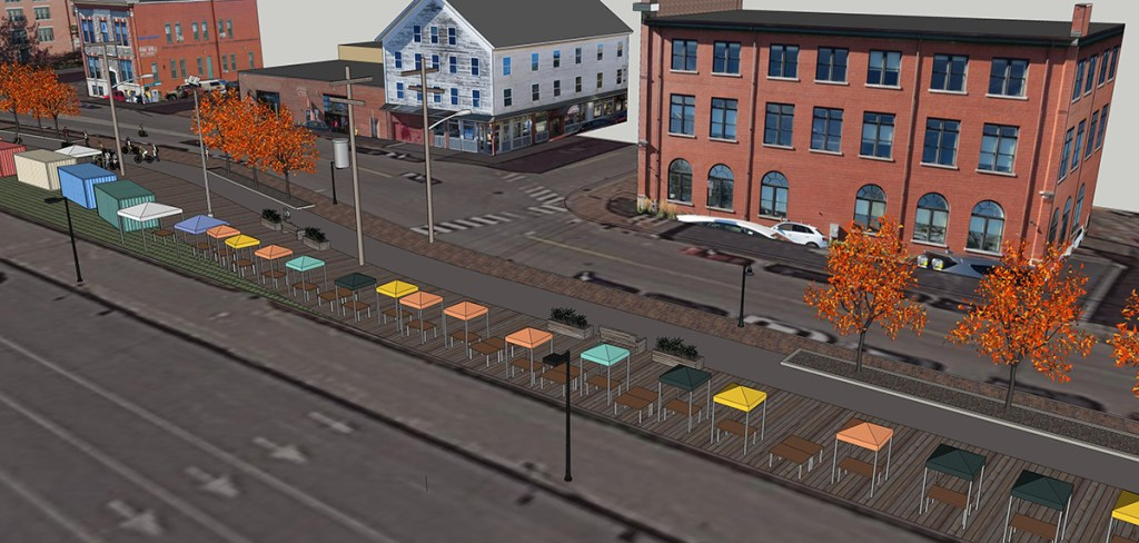 Portland City Manager Jon Jennings wants to build a boardwalk for street vendors along the Eastern Promenade Trail between the Maine State Pier to the Ocean Gateway terminal.