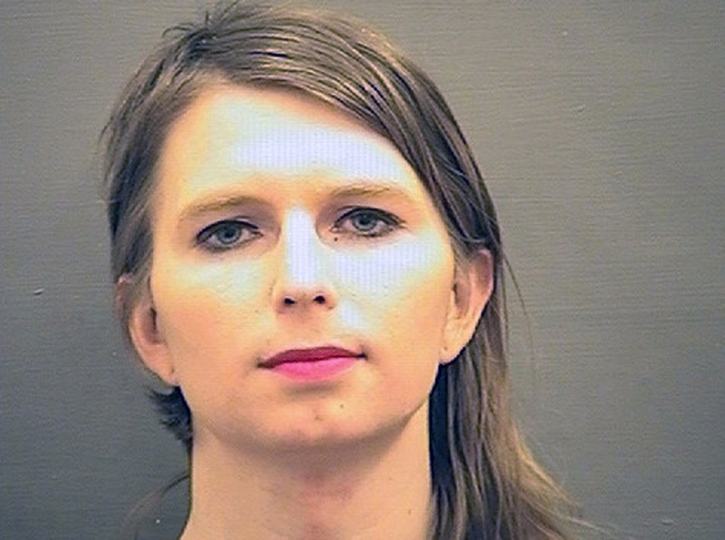 Chelsea Manning in a booking photo provided by the Alexandria Sheriff's Office in Virginia. Manning, who served years in prison for leaking one of the largest troves of classified documents in U.S. history, was sent to jail Friday for refusing to testify before a grand jury investigating WikiLeaks.