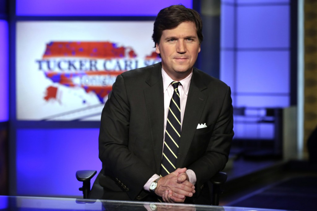 """Tucker Carlson, host of """"Tucker Carlson Tonight,"""" has drawn the attention of media activists for an apparent history of racist and sexist comments."""