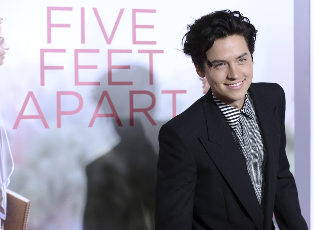 """Cole Sprouse arrives at the Los Angeles premiere of """"Five Feet Apart."""""""