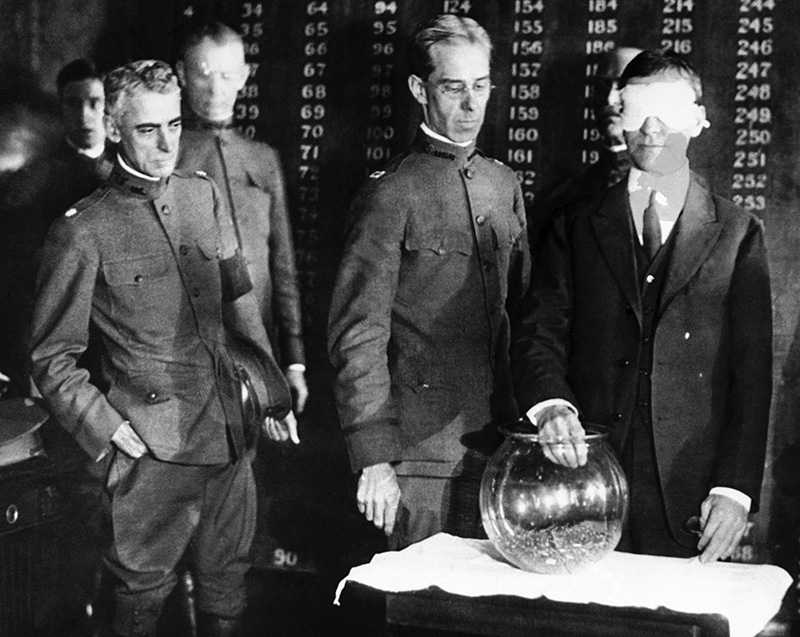 During World War I, the draw from this goldfish bowl determined the order of calling men for military training. It's now long past time for Congress to reconsider the Selective Service System, a vestige of a different era.