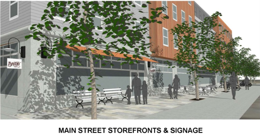 A closer look at the first-floor retail space to be built at 611 Main St., South Portland.