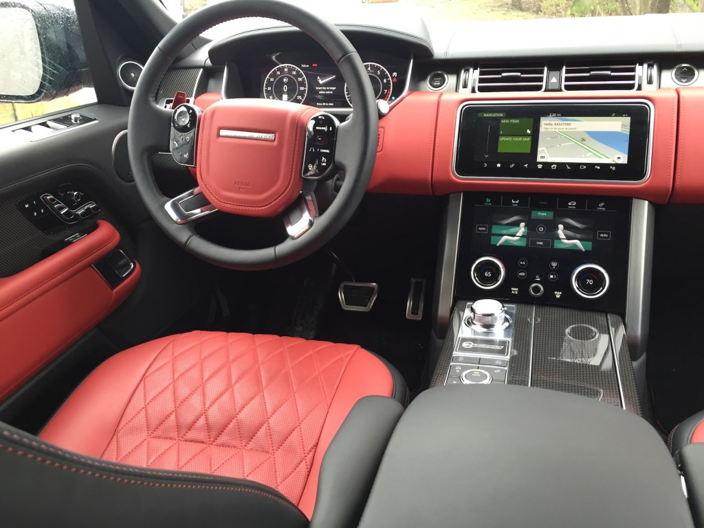 The luxury vehicle features four-zone climate, 10-inch touchscreen with navigation, Wi-Fi, Driver Condition Monitoring, and plenty of driving aids. Photo by Tim Plouff.