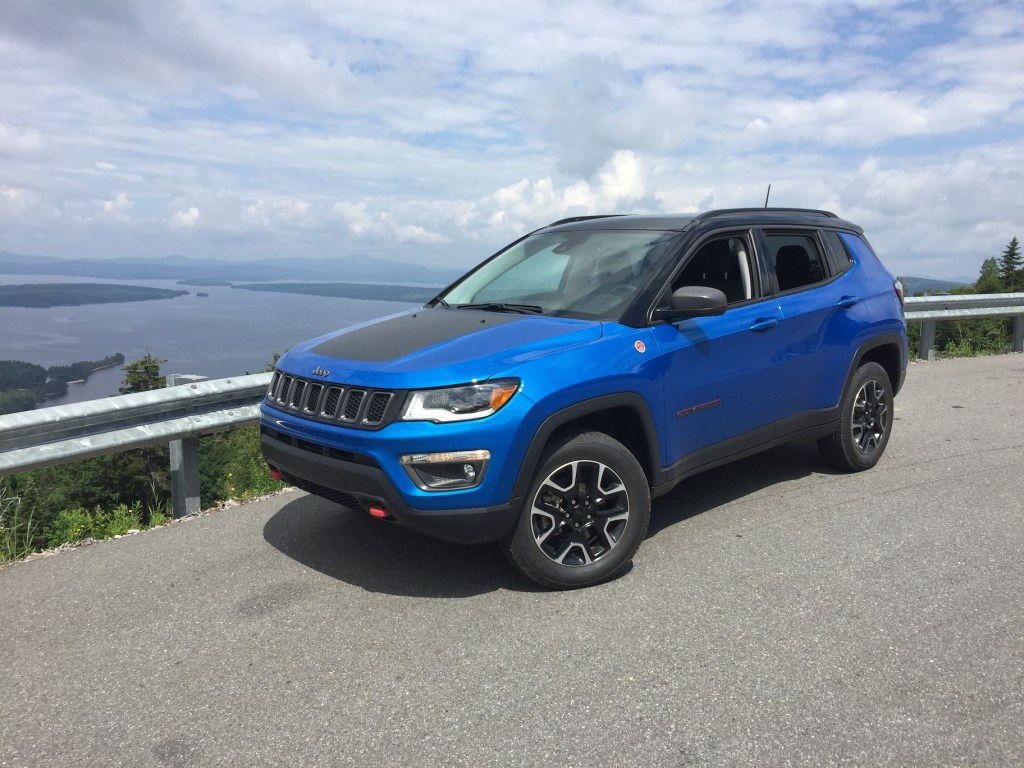 Jeep Compass pricing starts at less than $21,000 for front-drive models. Photo by Tim Plouff. Location: High ground, Rangeley region.