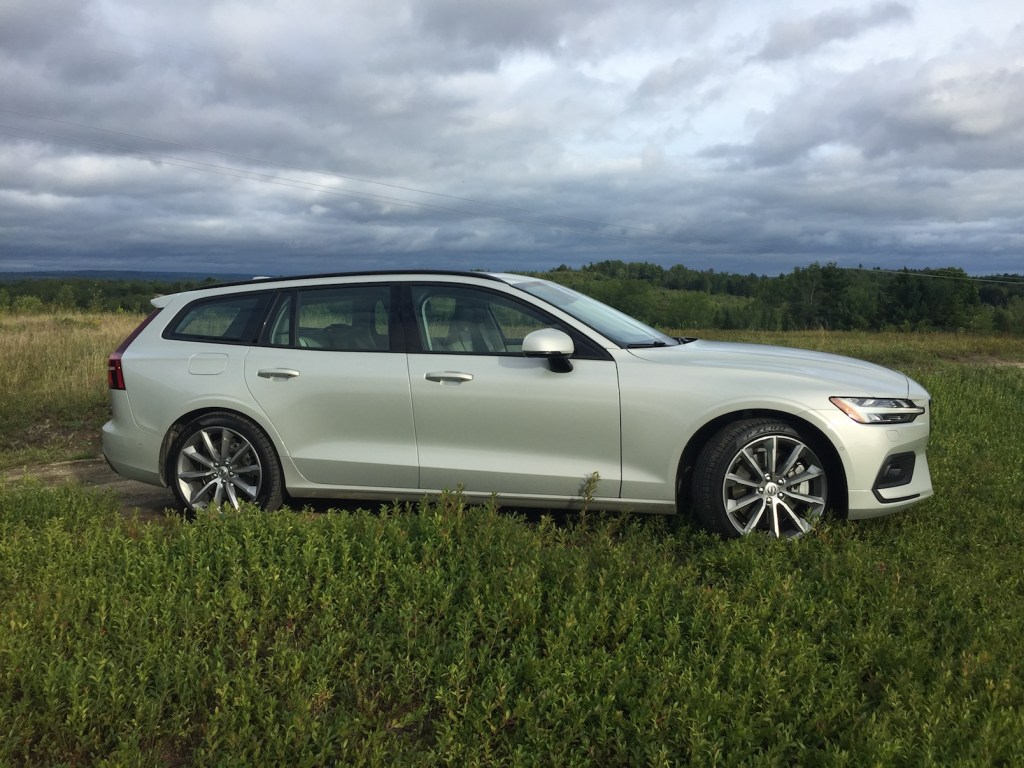 The V60 comes in five trim levels; Momentum starts at $39,650. Photo by Tim Plouff. Location: Blueberry field, Otis.