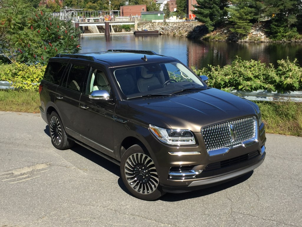 Pricing for the new Lincoln Navigator starts at just over $72,000. The Black Label model, pictured here in Chroma Molten Gold, listed for $99,895.