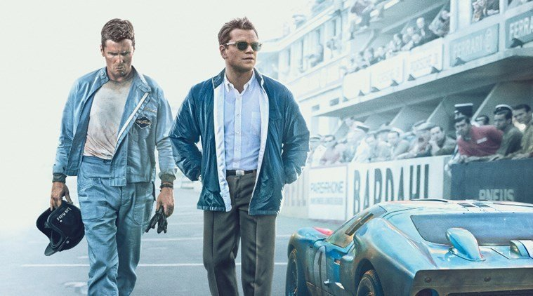 "Christian Bale and Matt Damon star in ""Ford v. Ferrari,"" originally released Aug. 30 2019 and nominated for four Academy Awards."