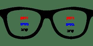 משקפי מולטיפוקל - 3 טווחים