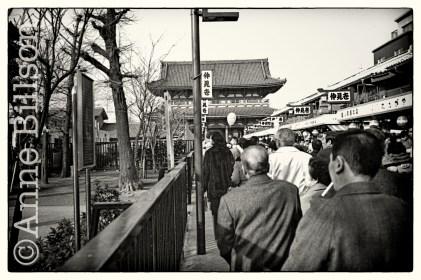 Approach to Sensoji temple.