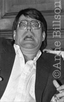 Stephen King, writer. London, 1983.