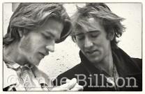 Matthew Modine & Nicolas Cage, actors. London, 1985.
