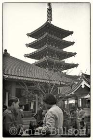 Gojunoto pagoda, Sensoji temple.