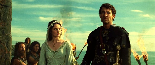 Keira Knightley and Clive Owen in King Arthur (2004)