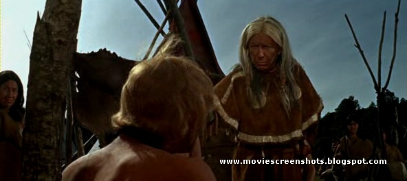 """Native American: Dame Judith Anderson as """"Buffalo Cow Head"""" in A Man Called Horse (1970)"""
