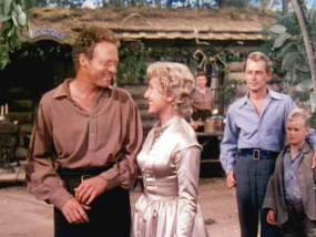 Homesteader's wife and mother: Jean Arthur as Marian Starrett in Shane (1953)