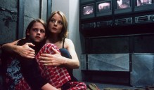 With Jodie Foster in The Panic Room (2002)