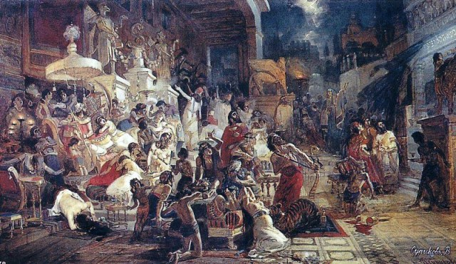 Суриков: Пир Валтасара. 1874