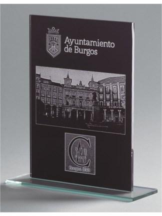 1368-Cristal-Economico-Trofeo-Placa-Reconocimiento-Homenaje