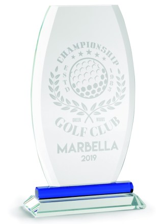 2326-Cristal-Economico-Trofeo-Placa-Reconocimiento-Homenaje