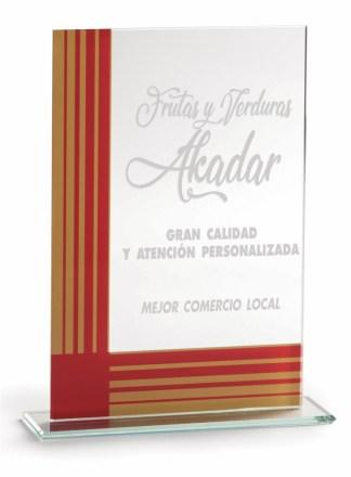 2370-Cristal-Economico-Trofeo-Placa-Reconocimiento-Homenaje