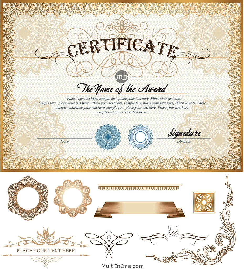 Certificate vector template bundle exclusive free download 01 1betcityfo Gallery
