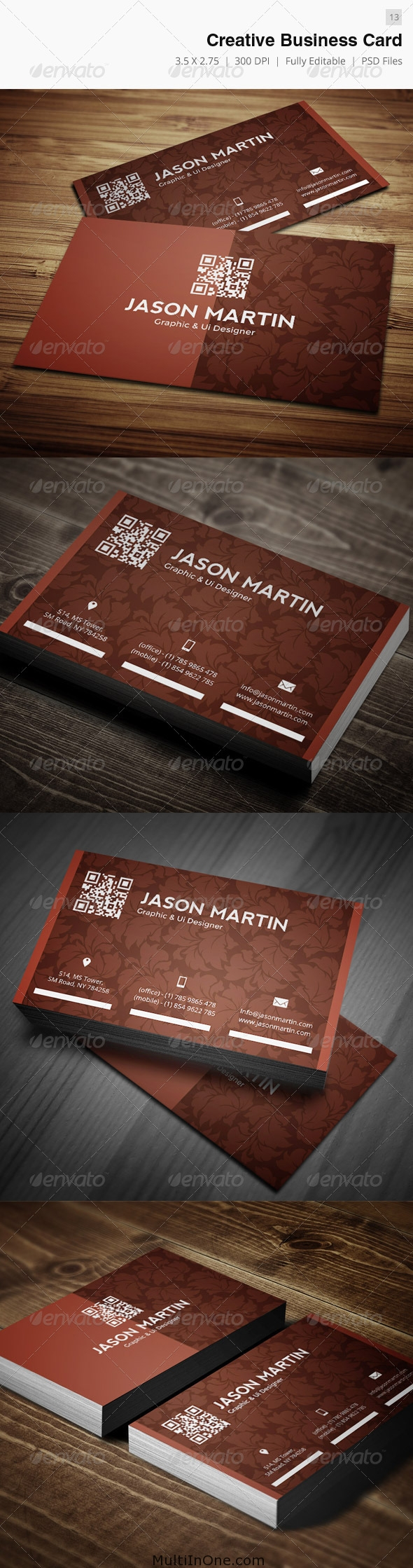 Creative Business Card PSD - Perfect for Portfoliophotography industry(Free Downlo