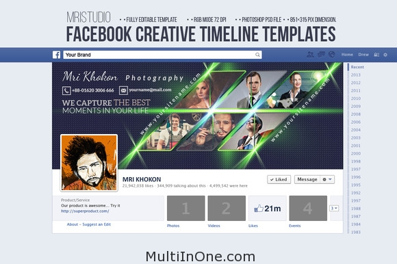 Facebook Creative Timeline Cover 1