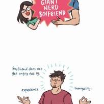My Giant Nerd Boyfriend fragment komiksu