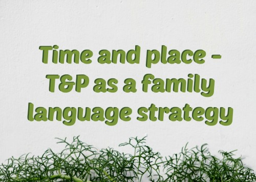Time and place – T&P as a family language strategy