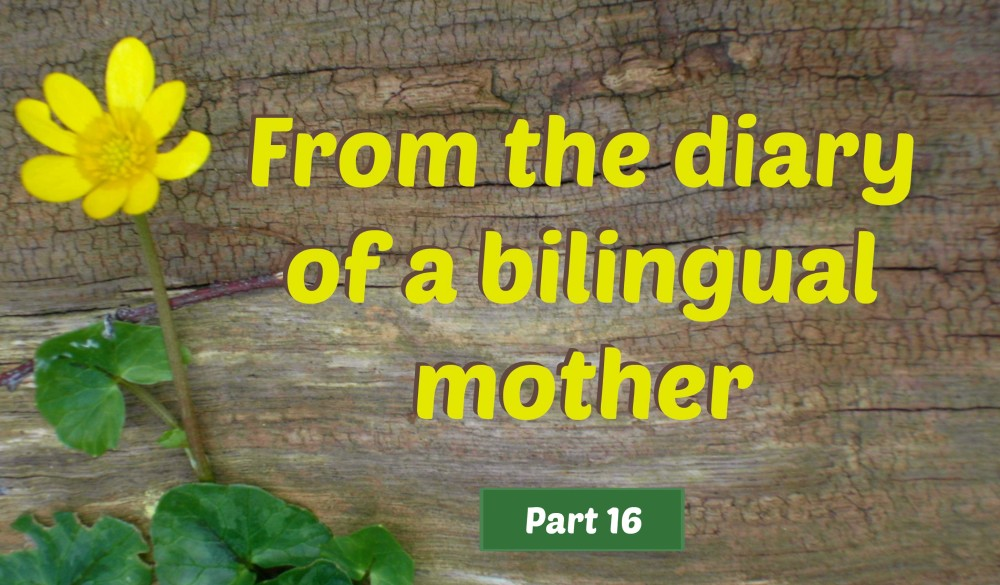 From the diary of a bilingual mother, part 16