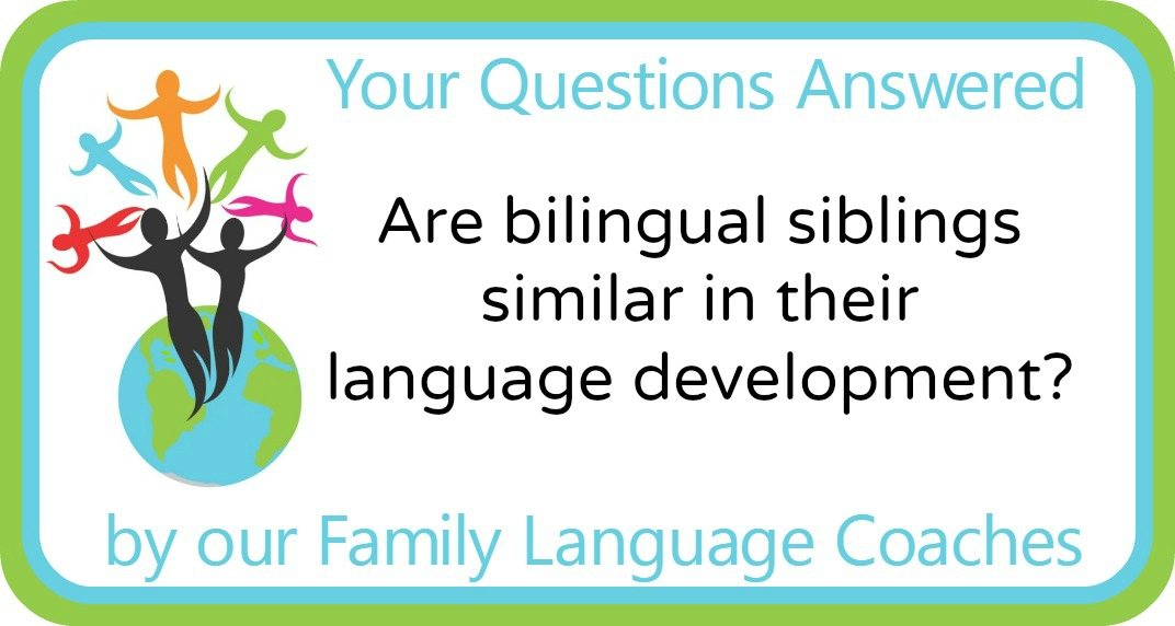 Are bilingual siblings similar in their language development?