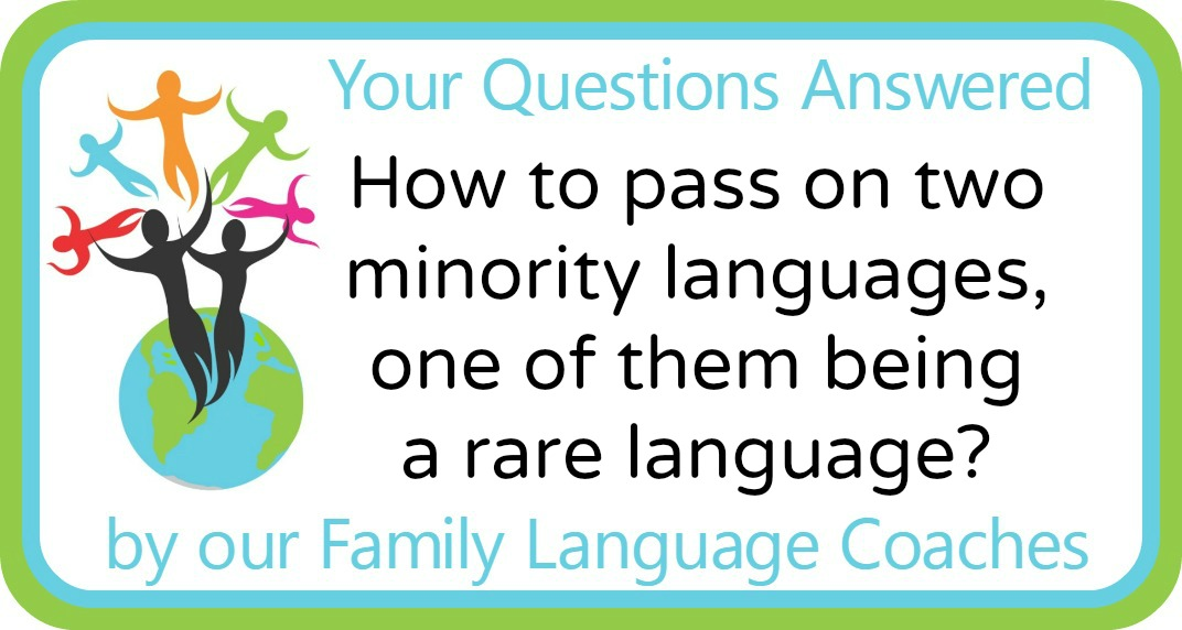 How to pass on two minority languages, one of them being a rare language?