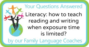 Q&A: Literacy: how to teach reading and writing when exposure time is limited?