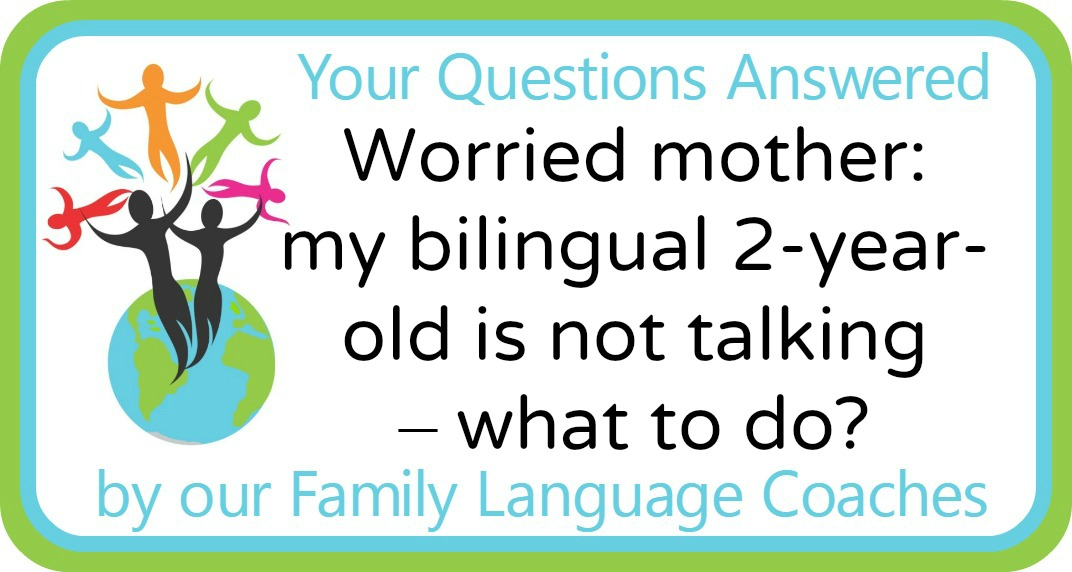 Q&A: Worried mother: my bilingual 2-year-old is not talking – what to do?